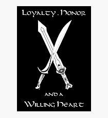 Thorin Oakenshield : Loyalty  -white- Photographic Print