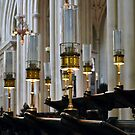 Choir Stalls in Bath Abbey by Carol Bleasdale