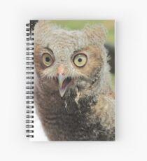 Baby screech owl Spiral Notebook