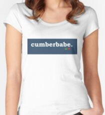 Tumblr-Themed Cumberbabe Tee Women's Fitted Scoop T-Shirt