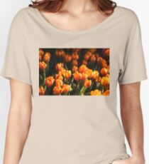 Impressions of Gardens - Flame Colored Tulip Abundance Women's Relaxed Fit T-Shirt