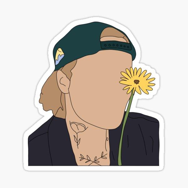 JBiebs con una flor Pegatina