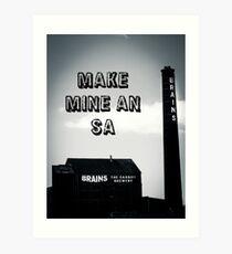 Brains SA Art Art Print