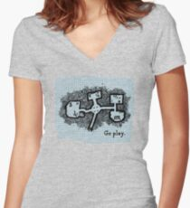 GO PLAY already Women's Fitted V-Neck T-Shirt