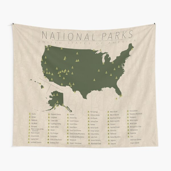 US National Parks Tapestry
