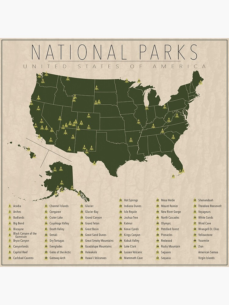 US National Parks w/ State Borders by FinlayMcNevin