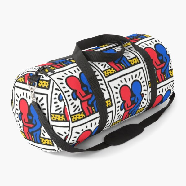Keith Haring German Graffiti Illustration Duffle Bag