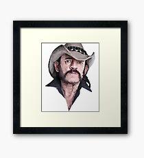 Poly Portrait Lemmy Framed Print