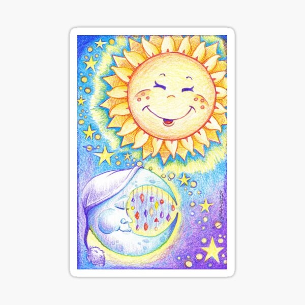 Sun, Moon, and Stars Sticker