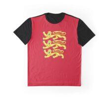 Royal Arms of England - Three Lions - British Flag Football T-Shirt Graphic T-Shirt