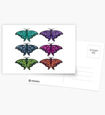 Technicolor Butterfly Collection Postcards