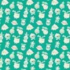 Grass Pokemon Pattern by knightofbunnies