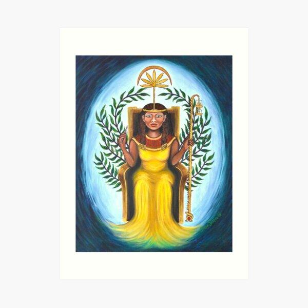 Goddess Seshat of Writing, Maths, Astrology, Measurement Art Print