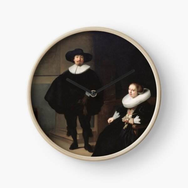 Rembrandt - A Lady and Gentleman in Black 1633 Clock