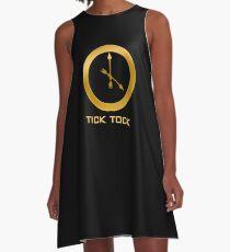 Catching Fire Tick Tock Shirt  A-Line Dress