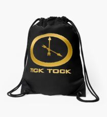 Catching Fire Tick Tock Shirt  Drawstring Bag