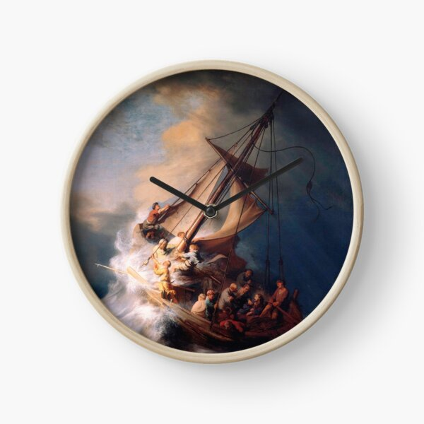 Rembrandt - Christ in the Storm on the Sea of Galilee Clock