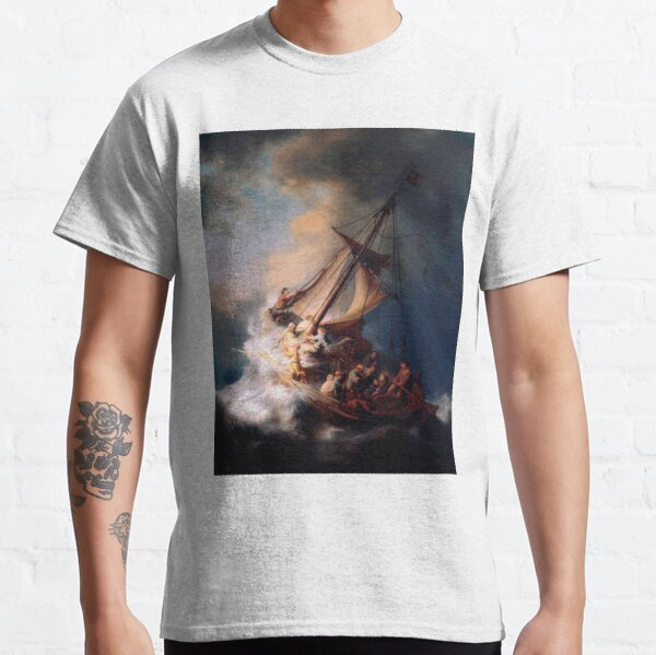 Rembrandt - Christ in the Storm on the Sea of Galilee Classic T-Shirt