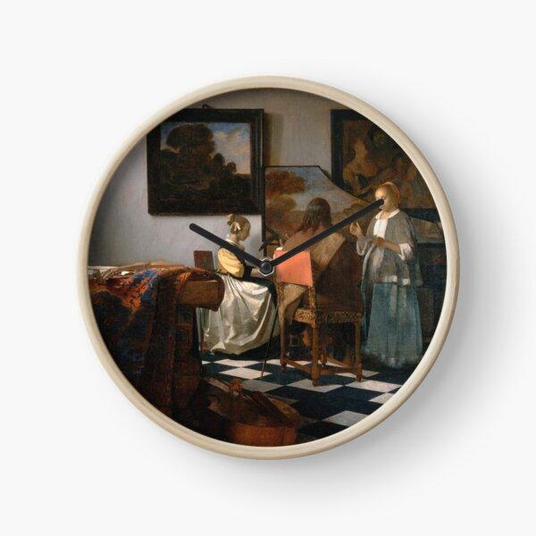 Johannes Vermeer - The Concert 1665 Clock
