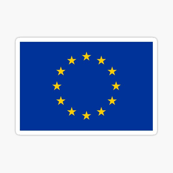 EU Flag Dress - European Union Sticker Sticker