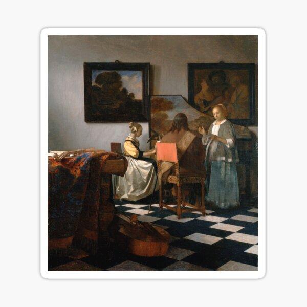 Johannes Vermeer - The Concert 1665 Sticker