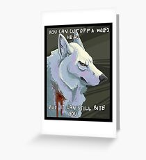 Moro Stickers Greeting Card