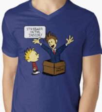 Calvin and the Doctor Men's V-Neck T-Shirt