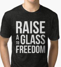Hamilton - Raise a Glass to Freedom Tri-blend T-Shirt