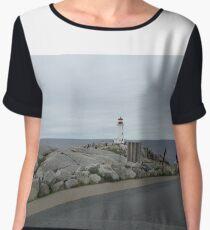 Peggy's Cove landmark lighthouse Chiffon Top