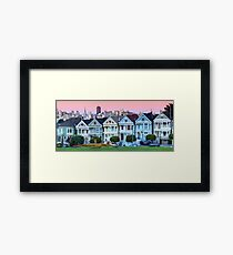 San Francisco Painted Ladies Framed Print