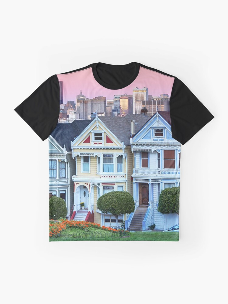 Alternate view of San Francisco Painted Ladies Graphic T-Shirt