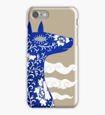 The Water Horse in Blue and White iPhone Case/Skin