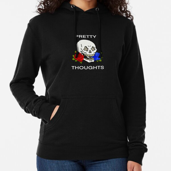 Pretty Thoughts Skull Lightweight Hoodie