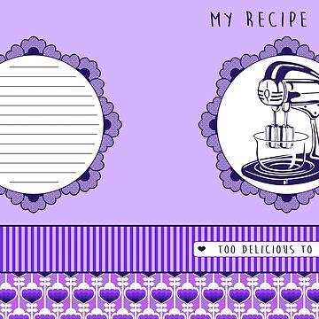 Plum Retro Recipe Book by trossi