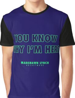 Marshawn Lynch Graphic T-Shirt