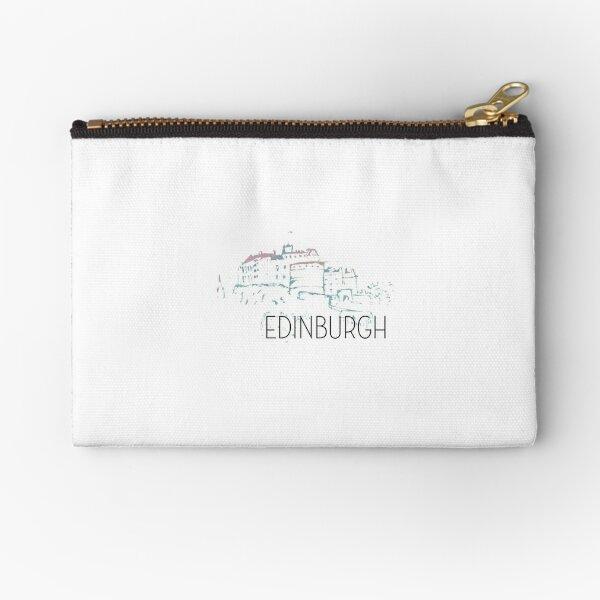 Pastel Edinburgh Castle Zipper Pouch