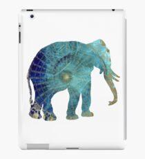 Elephant blue maps iPad Case/Skin