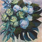 Hydrangeas & Kale by Terri Maddock