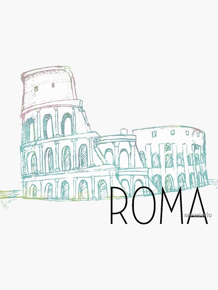 Pastel Rome Coliseum by annaserio