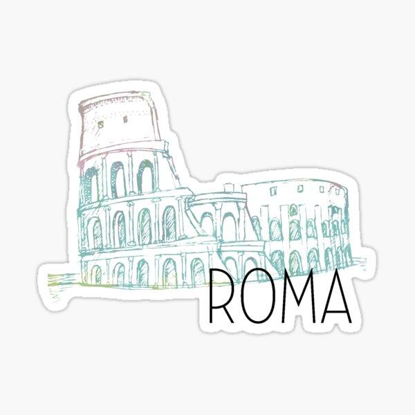 Pastel Rome Coliseum Sticker
