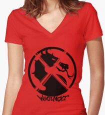 Mortal Kombat X - Who's Next? Women's Fitted V-Neck T-Shirt