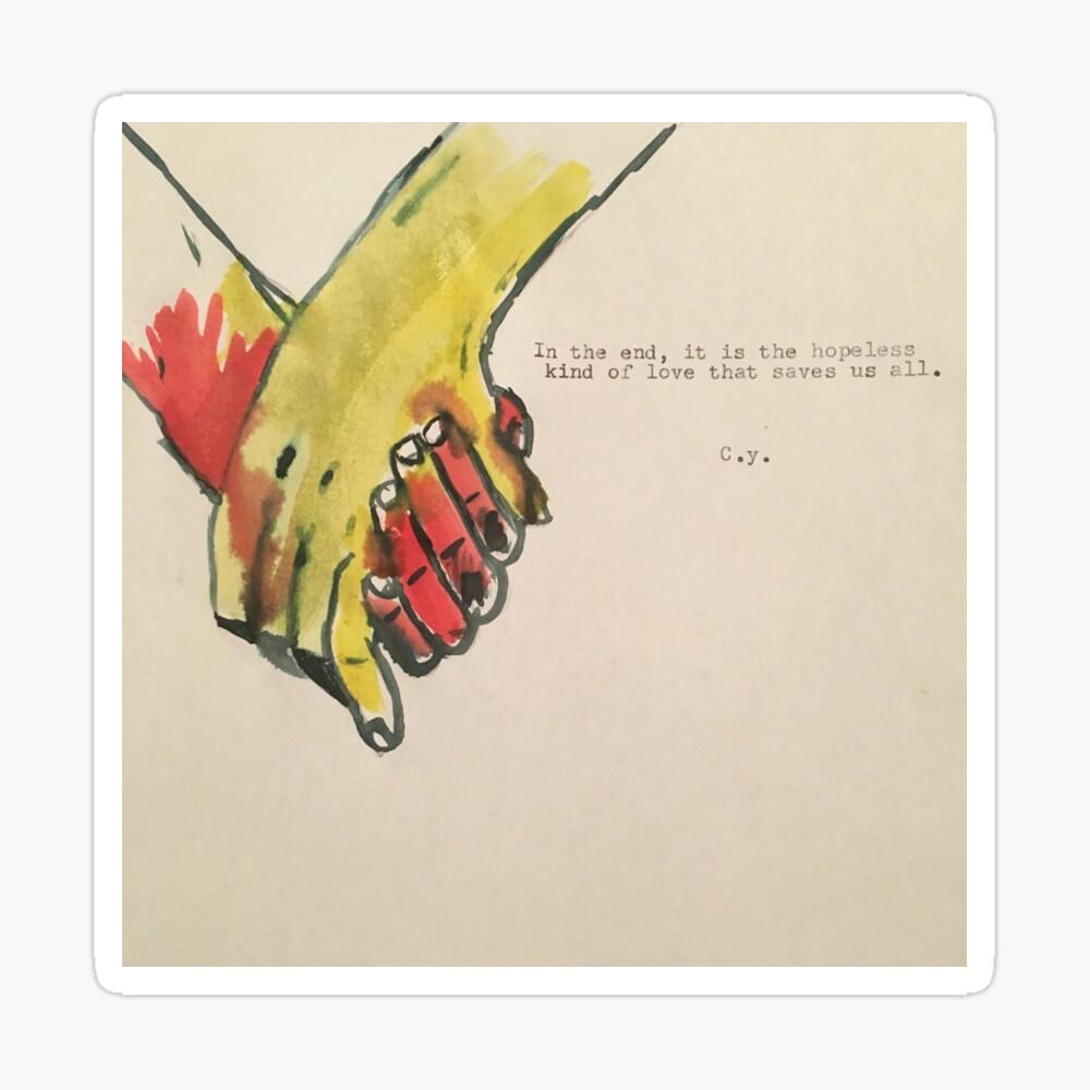 Hopeless Love Art Board Print By Carsonyoungg Redbubble