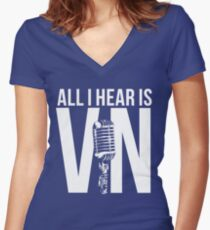 Vin Scully  Women's Fitted V-Neck T-Shirt