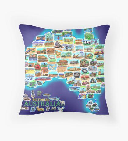 Pictorial Australia Throw Pillow