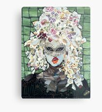Chyna 1 Girl with red glossy lips  Metal Print