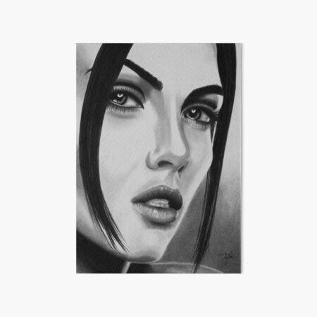 Seductive look (black & white) Art Board Print