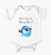 Was würde Baby Dory tun? Kurzärmeliger Einteiler