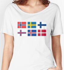 Scandinavian flags Women's Relaxed Fit T-Shirt