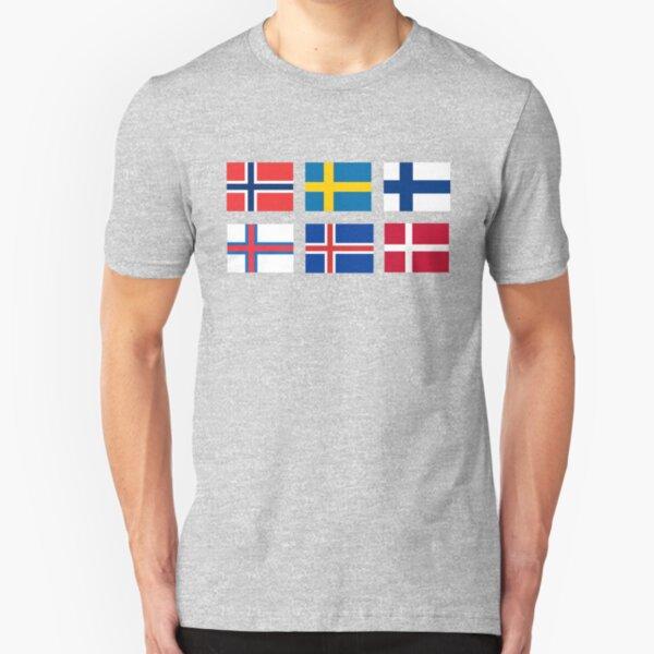Scandinavian flags Slim Fit T-Shirt