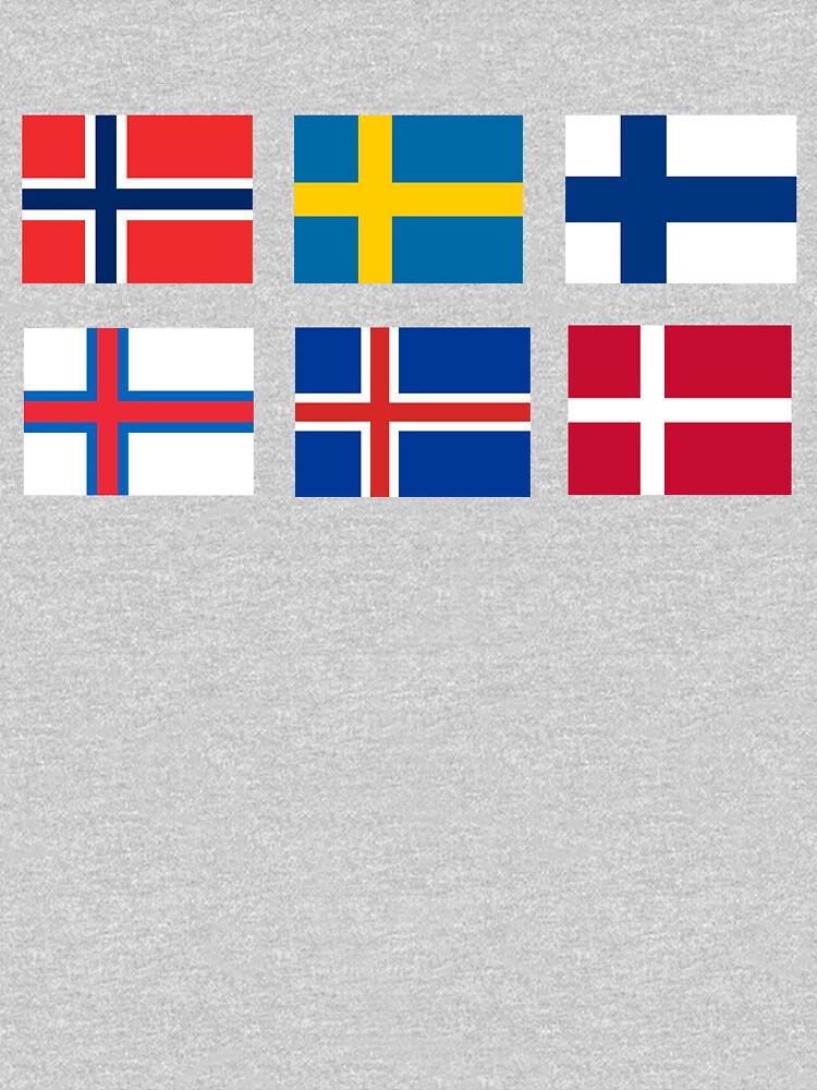 Scandinavian flags by dasilvawolfgang
